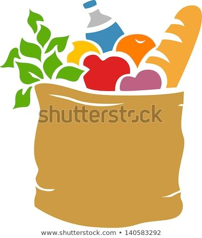 ステンシル 実例 食料品 袋 フル ストックフォト © lenm