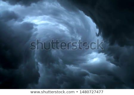 Donkere bewolkt stormachtig hemel wolken golven Stockfoto © Witthaya