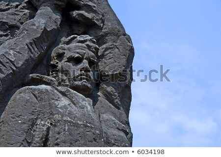 Granit taş yüz soyut inşaat dizayn Stok fotoğraf © vavlt