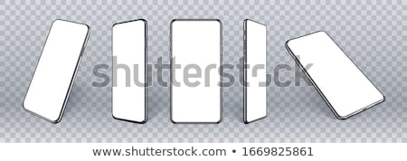 Abstract white mobile phone template Stock photo © orson