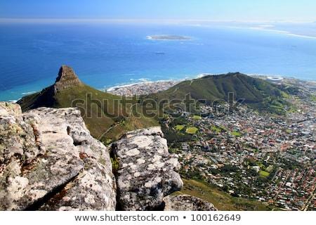 Lion's Head and Robben Island Stock photo © bradleyvdw