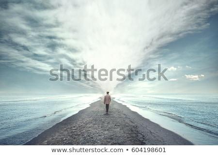 Stappen wolken hemel fase wolk vrijheid Stockfoto © zzve