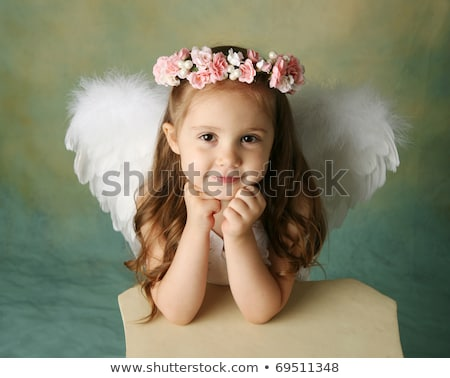 angel girl on pedestal Stock photo © chesterf