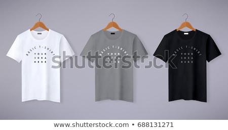 ruházat · vállfa · pólók · izolált · fehér · üzlet - stock fotó © Marfot