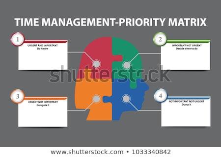 time management concept on green puzzle pieces stock photo © tashatuvango