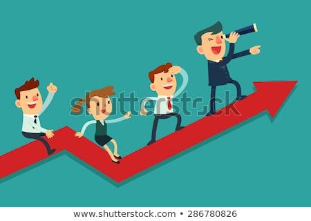 Werkgever werknemer business werk succes ondersteuning Stockfoto © Kirill_M