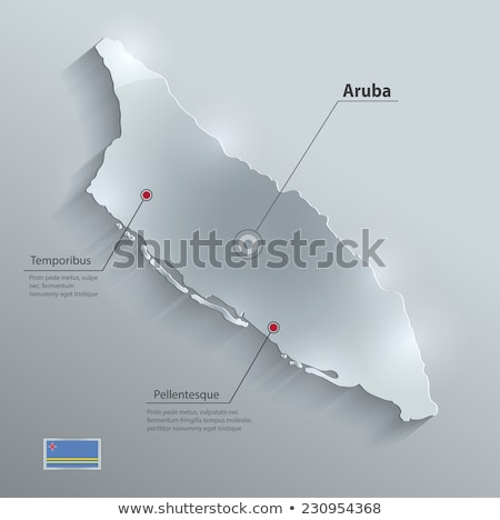 3d character textured with flag of Aruba Stock photo © Kirill_M