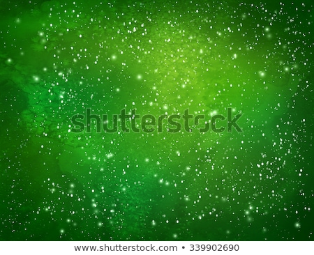 green background with snowflakes stock photo © Spanish