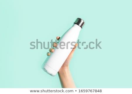 Mão ciano isolado branco fundo Foto stock © Nelosa
