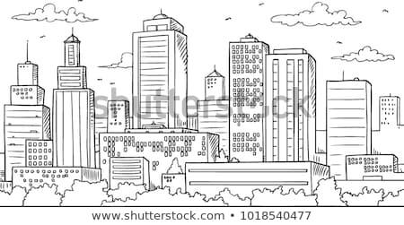 miejskich · niebo · budynku · streszczenie · krwi · tle - zdjęcia stock © nezezon