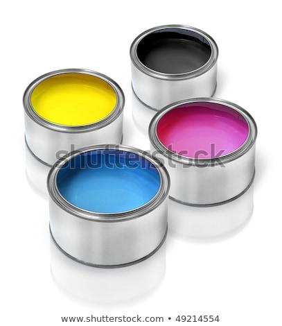 цветами олово металл четыре процесс краской Сток-фото © stevanovicigor