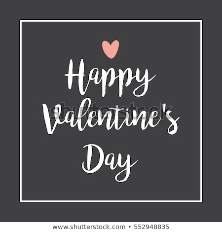 Happy Valentine's Day Floral Lettering - Typographical Backgroun Stock photo © WaD