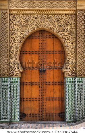 Portas Marrocos edifício viajar África Foto stock © haraldmuc