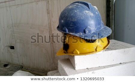 старые шлема купленный безопасности голову Сток-фото © c-foto