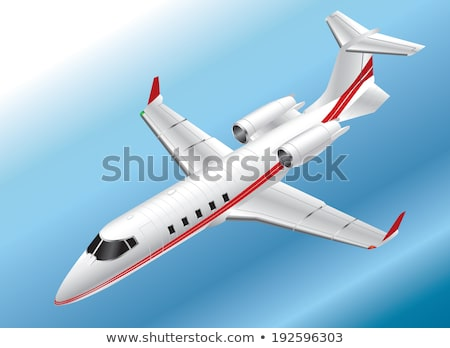 Részletes izometrikus égbolt üzletember repülőgép repülőgép Stock fotó © VectaRay