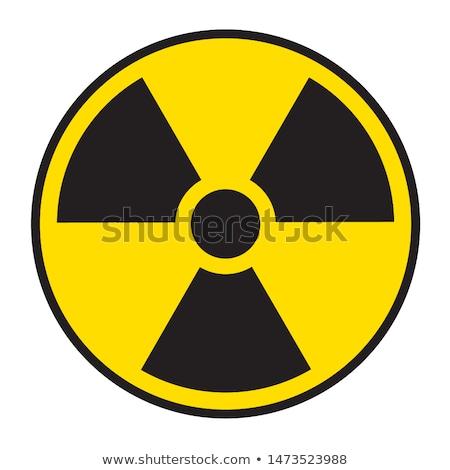 Radiazione allarme simbolo uomo mano tecnologia Foto d'archivio © nito