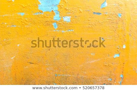Spleet Geel muur oude gips scheuren Stockfoto © stevanovicigor