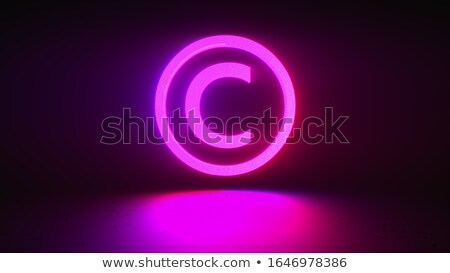 copyright on dark digital background stock photo © tashatuvango