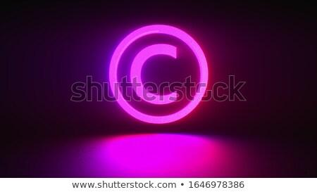 Szerzői jog sötét digitális szöveg kék szín Stock fotó © tashatuvango