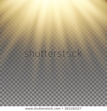 Fiery sunrise sky with sun and rays Stock photo © BSANI