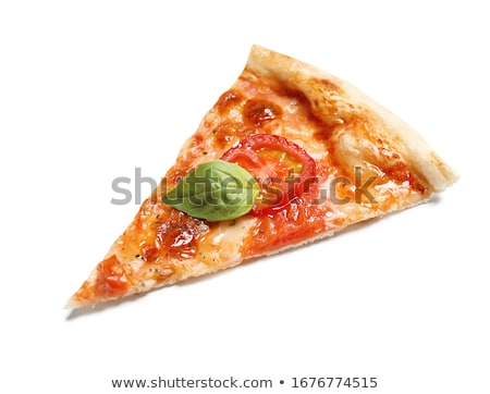 Kawałek pizza duży odizolowany biały strony Zdjęcia stock © Mikko