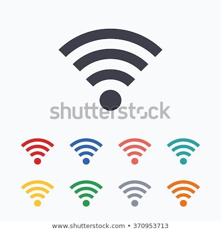 wifi symbol with orange background stock photo © adamson