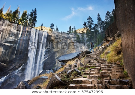 пейзаж · горные · луговой · Национальный · парк · Йосемити · красивой · водопада - Сток-фото © meinzahn