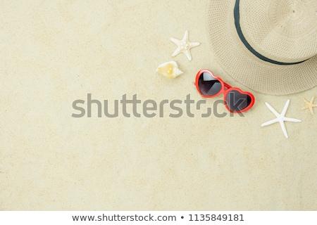 にログイン · ビーチ · 愛 · 赤 · 心臓の形態 · 空 - ストックフォト © stevanovicigor