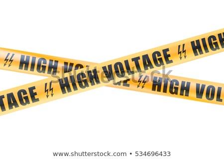 Warning sign, danger high voltage, safety concept Stock photo © FrameAngel
