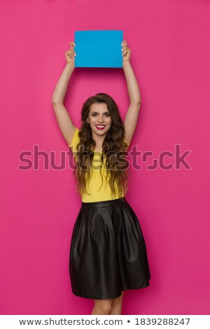Girl in leather is smiling stock photo © DNF-Style
