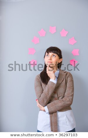 小さな ビジネス女性 思考バブル ストックフォト © HASLOO