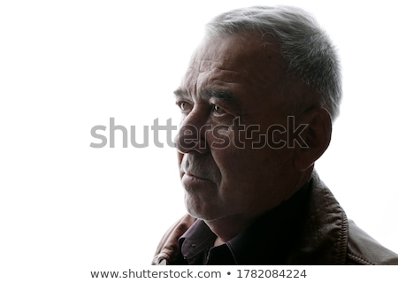 Portret dramatyczny ekspresyjny człowiek przystojny twarz Zdjęcia stock © tobkatrina