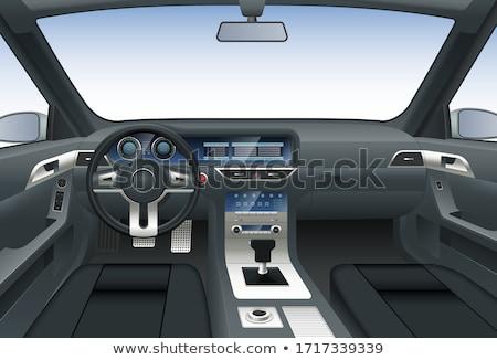 Cabine do piloto moderno carro detalhes abstrato Foto stock © vladacanon