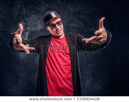 Knap jonge rapper gezicht man mode Stockfoto © Nejron