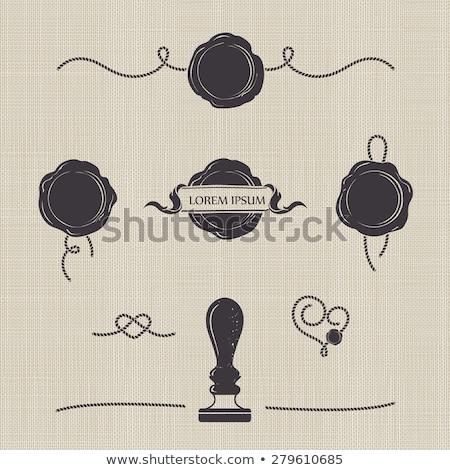 zarf · balmumu · damga · gözlük · Eski · kağıt · kâğıt - stok fotoğraf © nejron