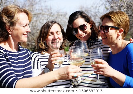 sophisticated , old glasses on wine Stock photo © wjarek