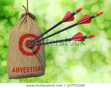 Television Advertising - Arrows Hit in Red Mark Target. Stock photo © tashatuvango