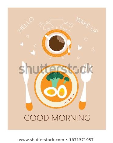 dos · huevos · aislado · blanco · alimentos · huevo - foto stock © lemonti