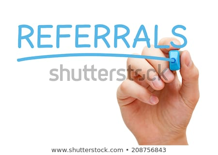 Referrals Blue Marker Stock photo © ivelin