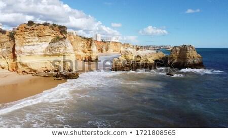 kayalar · deniz · plaj · Portekiz · gökyüzü · su - stok fotoğraf © li-bro