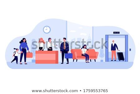 iş · adamları · yürüyüş · dışında · ofis · iş · insanlar - stok fotoğraf © hasloo