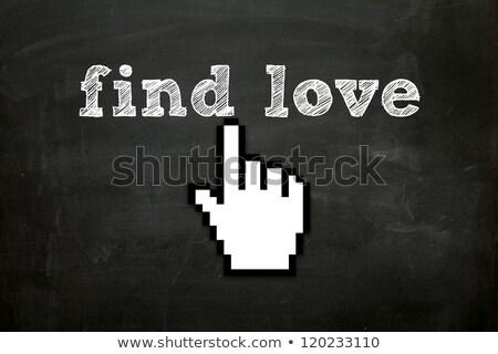 кнопки стороны курсор бизнеса сердце веб Сток-фото © tashatuvango