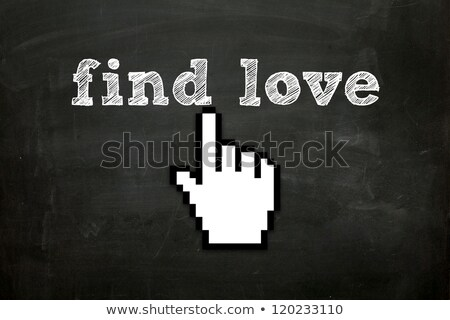 Knop hand cursor business hart web Stockfoto © tashatuvango