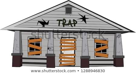 Ház csapda 3D generált kép épület Stock fotó © flipfine