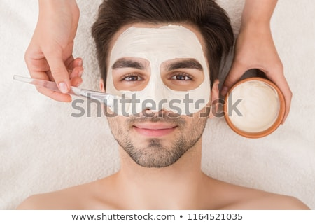 maschio · cosmetici · lusso · trattamento · termale · mani · faccia - foto d'archivio © candyboxphoto