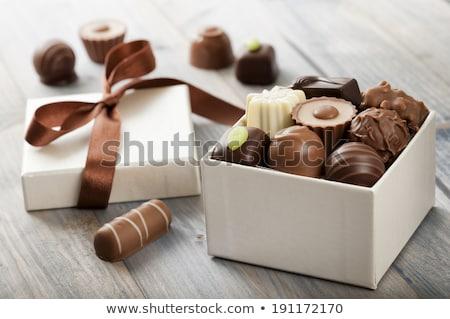 混合した チョコレート クローズアップ 甘い マクロ 誰も ストックフォト © aladin66
