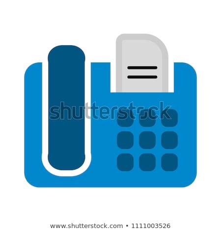 Vector illustratie geïsoleerd witte telefoon Stockfoto © Mr_Vector