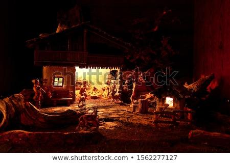 saman · Noel · melek · heykelcik · beyaz · kanatlar - stok fotoğraf © dermot68