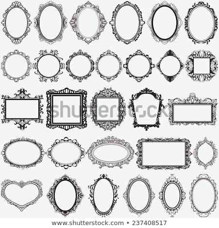 Decorative oval vintage frame Stock photo © ElaK