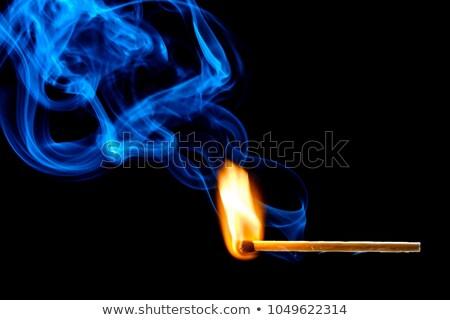 сжигание · матча · черный · дизайна · огня · древесины - Сток-фото © mady70